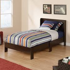 Platform Bed Headboard High Twin Platform Bed Designs With Double Drawer And Wooden Frame