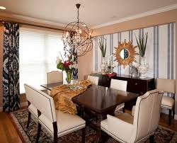 Mirror In Dining Room by Dining Glass Hanging Chandelier Dining Room Accent Wallpaper