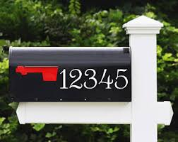 mailbox address number stickers cost is for up to 4