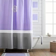 Pastel Purple Curtains Teen Shower Curtains Pbteen