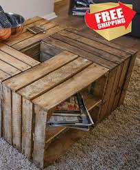 shipping crate coffee table rustic crate coffee table make your own formation from 4 vintage
