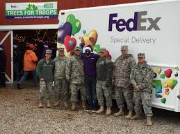 trees for troops delivering the holidays for the