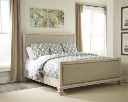 Millennium Bedroom Furniture by Demarlos Cal King Size Upholstered Bed By Millennium