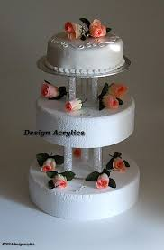 cake tier stand 2 x fillable acrylic separators stands for 3 tier wedding cake