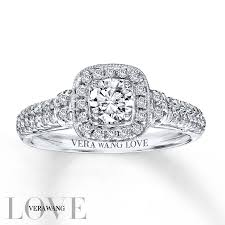 kay jewelers promise rings kay vera wang love 3 4 carat tw diamonds 14k white gold ring
