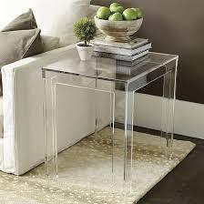 ballard designs end tables felicity acrylic rectangular side table ballard designs