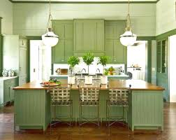 contemporary kitchen gorgeous ceiling lamps above wide green