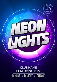 neon lights poster electronic club