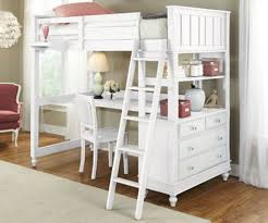 Wooden Loft Bed With Desk Underneath Furniture The Most Amusing Wood Loft Bed With Desk For Kids