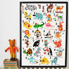 ketchup on everything abc kids poster for nursery and learning