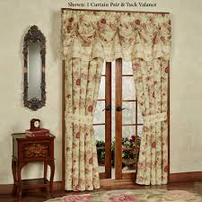 Floral Waterfall Window 1 Piece Floral Curtains Touch Of Class