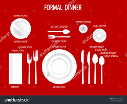 Proper Table Setting by Formal Dinner Table Clipart Collection