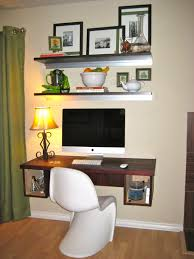 Small Floating Desk by Furniture Rectangle White Wooden Desk And Green Acrylic Chair On
