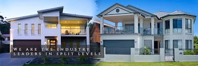 split level home designs display centre tullipan homes custom home builder sydney new