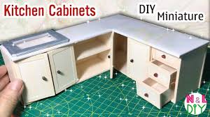 Dollhouse Furniture Kitchen Diy Miniature Kitchen Cabinets How To Make Kitchen Cabinets For