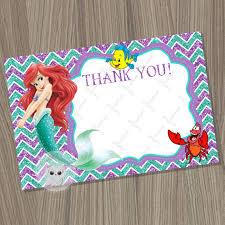 little mermaid thank you card blank disney little mermaid ariel