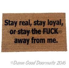 off classy funny rude doormat damn good doormats