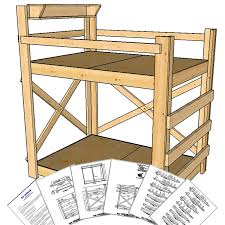 DIY Bunk Bed Plans OP Loftbed - Height of bunk beds