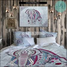 elephant bedding bohemian elephant duvet cover set elephant