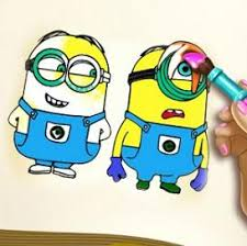 minions coloring book game minion games