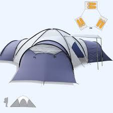 tente 3 chambres grande tente de cing 8 10 personnes 3 chambres anti pluie famille