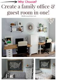 Guest Bedroom And Office - a family office and guest room in one home office that functions