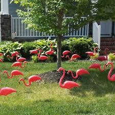 flamingo flocking yard decorations dazzle lace