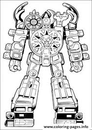 power ranger robot s60b0 coloring pages printable