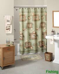 Fishing Bathroom Decor by Fishing Shower Curtain And Accessories Bath Coordinates