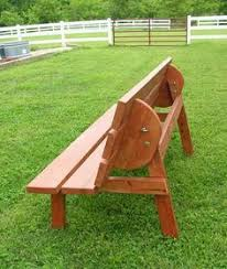 Woodworking Plans For Picnic Tables by Picnic Table And Bench Great Summer Project For The Men In This