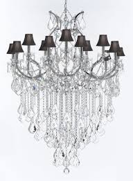 Chrome Crystal Chandelier by Maria Theresa Trimmed Chandelier Chandeliers Crystal Chandelier