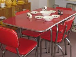 retro dining room kitchen retro kitchen table and 24 red dining room design using