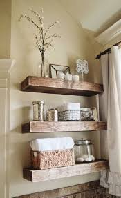 outstanding bathroom shelf ideas wall toilet mirror wooden basket