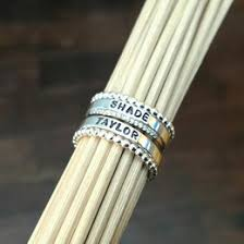 stackable personalized rings stacking rings collection gift ideas