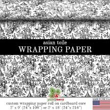 asian wrapping paper asian toile wrapping paper black and white restored 1800 s