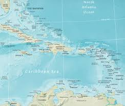 Blank Caribbean Map by Map Of The Caribbean Region