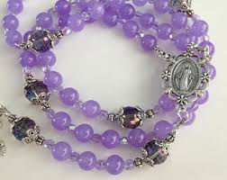 purple rosary purple rosary etsy