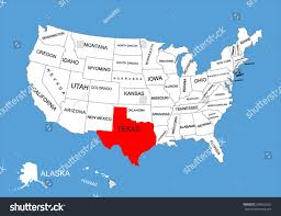 Blank Texas Map by Texas State Usa Vector Map Isolated Stock Vector 309562652