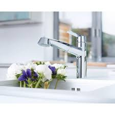 grohe 32 298 sd0 ladylux3 main sink dual spray pulldown kitchen grohe eurodisc pullout kitchen faucet in starlight the home depot