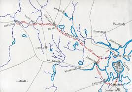 American Route Map by Battle Of Lexington And Concord