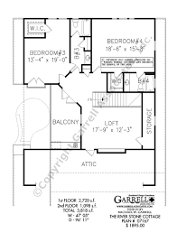 2nd Floor House Plan by River Stone Cottage House Plan House Plans By Garrell Associates