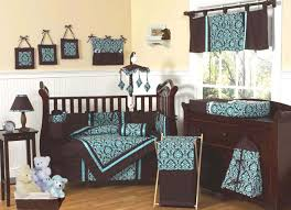 Brown Baby Crib Bedding Turquoise And Brown Baby Bedding 9 Pc Crib Set Only 69 99