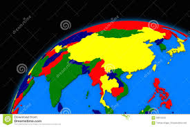 Map Southeast Asia by Southeast Asia On Planet Earth Political Map Stock Illustration