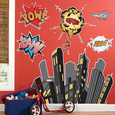 amazon com superhero comics room decor giant wall decals toys amazon com superhero comics room decor giant wall decals toys games