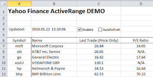 excel stock quotes free excel stock quote tracker macro