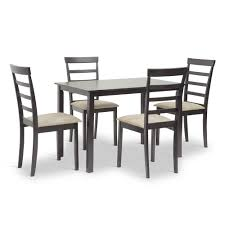 baxton studio jet dining set affordable modern furniture in chicago