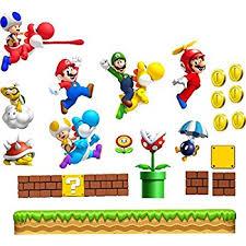 Super Mario Bedroom Decor Large Super Mario Wall Sticker Boys Bedroom Wall Art Mario Luigi
