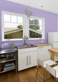 Purple Kitchen Designs by Stunning Purple Kitchen Design With Grey Cabinet And Hanging Lamp