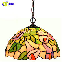Stained Glass Pendant Light Fumat Stained Glass Pendant Ls European Style Glass Lights