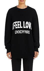 givenchy sweater givenchy i feel cotton oversized sweater barneys york